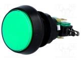 Tlačítko VAQ-9-10-12-G spínací/rozpínací 250V/10A otvor@24,5mm