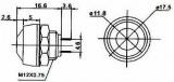 Tlačítkový spínač přepínač tlačítko kul. OFF-(ON) M11 bez aretace střed černý
