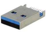USB-A-VK konektor zástrčka přímá USBA-LPO3.0/SMD