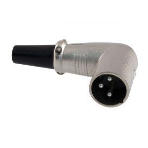 CANON XLR 3VK Mikrofonní konektor-vidlice na kabel 3-piny, úhlový