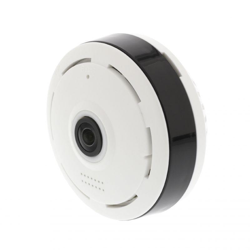 HD IP kamera 1280x960 Panorama Bílá/Černá, stropní, prostřednictvím smartphonu pro nenápadné sledování, Detekce pohybu s upozorněními • Magnetická sada pro montáž na strop