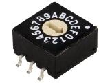 Kódový spínač ERD116RM-SMD 16 poloh HEX/BCD.