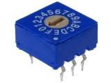 Kódový spínač ERD116RS 16 poloh HEX/BCD.