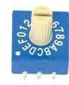 Kódový spínač ERD216RS 16 poloh HEX/BCD.