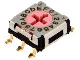 Kódový spínač ERD716RM-SMD 16 poloh HEX/BCD.