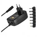 Zdroj pulsní nastavitelný 3-12V 1500mA s hřebínkem, USB
