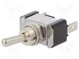 Přepínač páčkový R13-5 2-polohy/2pin ON-OFF 12VDC/20A konektory Faston 6,3x0,8mm