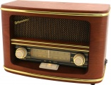 Radio ROADSTAR HRA-1500MP RETRO, třešeň, s CD/MP3