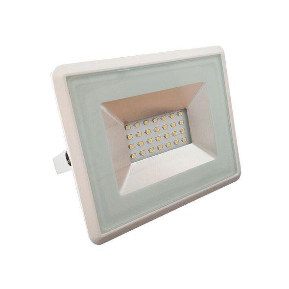 Reflektor LED plochý venkovní SLIM, 20W, 1700lm, 4000K, denní neutrální bílá, AC 230V, bílá