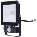Reflektor LED venkovní s PIR čidlem, sensorem 20W, netrální denní bílá 4000 K, HOBBY SLIM 1600lm, AC 230V, černá, se senzorem