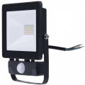 Reflektor LED venkovní s PIR čidlem 20W, 1600lm, HOBBY SLIM AC 230V, černá, se senzorem