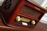 Retro stolní radiopřijímač Hyundai RA-601 třešeň, příjem AM/FM, napájení 230V AC