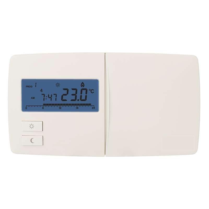 Termostat pokojový T091 digitální, programovatelný, slouží k automatickému řízení otopných soustav v bytech, domech a kancelářích podle nastavitelného časového programu
