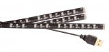 USB TV náladové osvětlení, LED pásek, 180 cm, studená bílá, 192 lm, za TV, napájení USB 5V přímo z televize