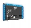 USB TV náladové osvětlení, LED pásek, 190 cm, RGB, 96 lm, s dálkovým ovladačem, napájení z USB 5V, za TV, barevný, možnost volby barev