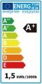 LED žárovka 12V DC patice MR11 1,5W - úhel svitu 60°