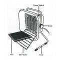 Odsávač kouře ventilátor ZD-153, 23 W, 230 V/AC, odsávač pájecích zplodin, Filtr s aktivním uhlím