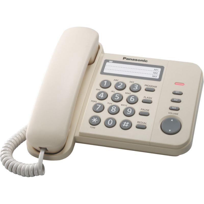 Panasonic KX TS520FXJ stolní telefon bílá na pevnou telefonní linku