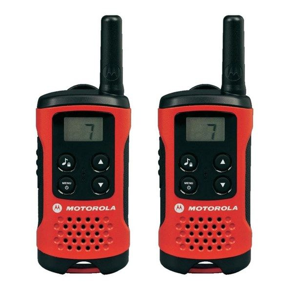Vysílačky-PMR Radiostanice MOTOROLA TLKR T40 RED, sada 1 pár, ruční
