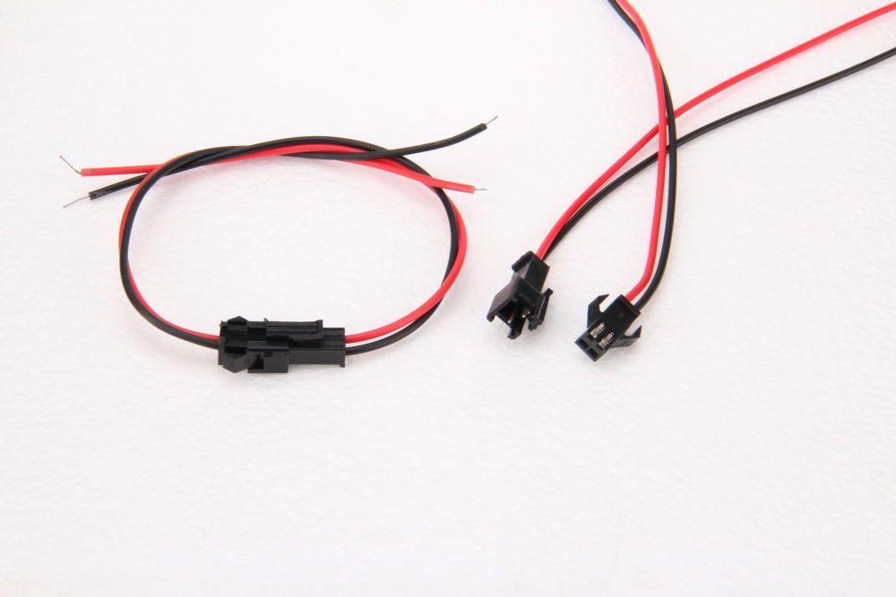 DC napájecí kabel s konektorem spojka, 2 PIN, délka 28cm
