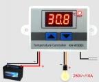 Digitální termostat XH-W3001, -10 až +110°C, napájení 12V, modul