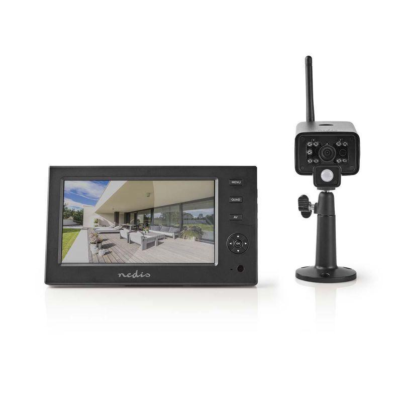 Kamera set NEDIS 2.4 GHz - 1x Kamera 7'' LCD digitální - dobíjecí - přenosná obrazovka, bezdrátová, Plug & Play , noční vidění, záznam na kartu nebo HDD 32GB