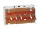 Posuvný přepínač 3 polohy/8 pinů-2 pólový ON-ON-ON, C&K OS203011MS1QP1, DP3T (2x přepínací kontakt 3 polohy) 0,1A/12VDC; -30÷70°C
