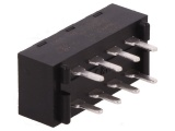Posuvný přepínač 3 polohy/8 pinů-2 pólový ON-ON-ON, C&K L203011MS02Q, DP3T (2x přepínací kontakt 3 polohy), 2A/250VAC