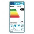 Pračka HAIER HW70-BP1439 PARNÍ s předním plněním, Teploty: 20-30-40-60-90 °C, Energetická třída: A+++(-40%) (105 kWh/rok)