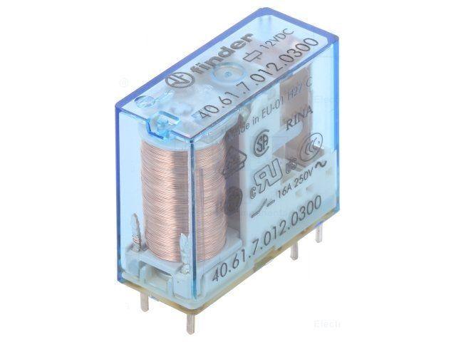 RELÉ F4061-12, 1 x přepínací kontakt 16A, 12V DC