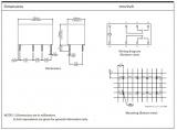 RELÉ M4-12H 2x přepínací kontakt 1A, 12VDC elektromagnetické s cívkou
