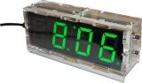 Stavebnice Digitální hodiny LED- zelené, řízeno krystalem 32798Hz