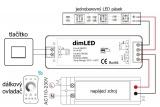 LED ovladač-stmívač dimLED PR CCT2 RF přijímač 12-36V, 2x8A k dálkovým ovladačům dimLED CCT1