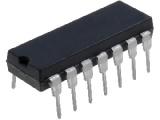 CMOS4007, 2x kompl.pár + invertor DIP14