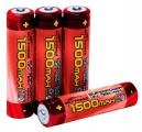 Baterie NiMH nabíjecí AAA (R03) 1,2V 1500mAh