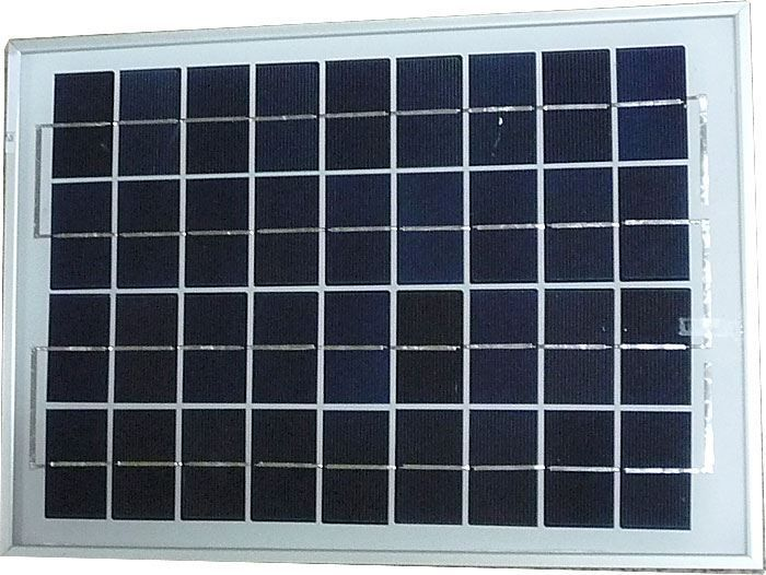 Fotovoltaický polykrystalický solární článek, panel 10W 12V/0,56A, rozměry 370×250×18mm.