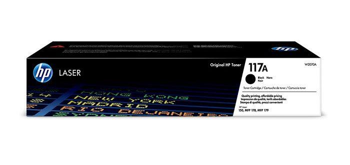 HP 117A Black (W2070A) - originální černý toner pro HP 117A Black Toner (cca 1100 stran) pro HP Color Laser 150a,150nw,178nw,179fnw