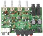 Modul DX0809 Stereo zesilovače 2x15W s korekcemi s TDA8946, napájení 12–15VDC/3A, vstupy AUX a MIC.