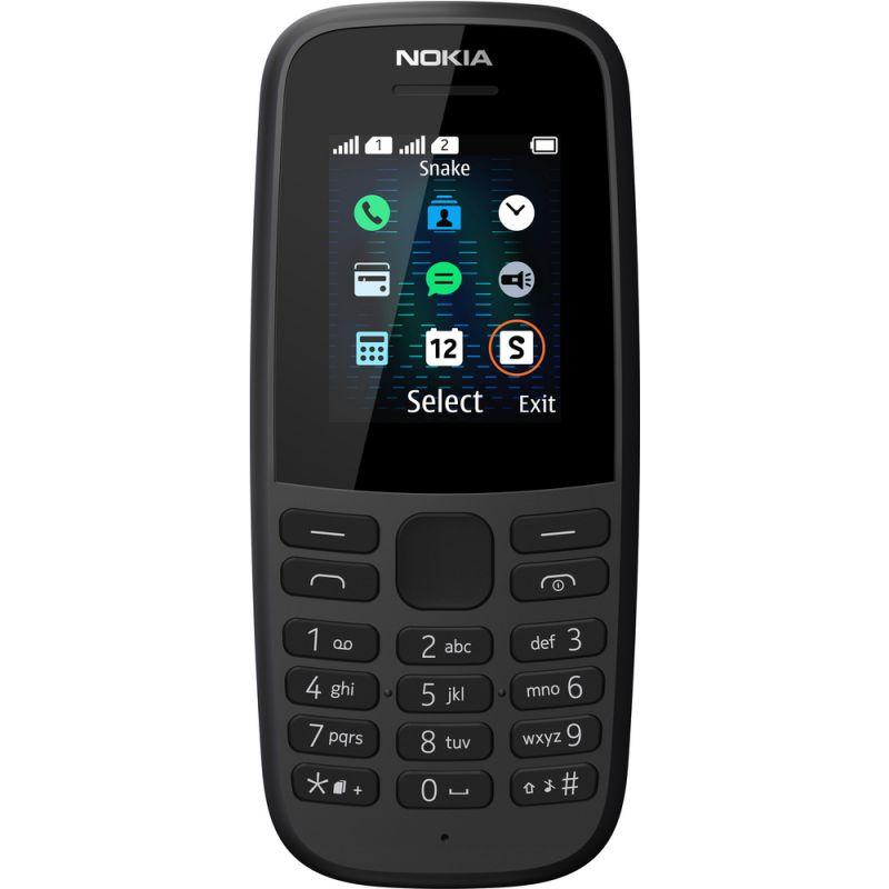 NOKIA 105 DS Black 2019 GSM mobilní telefon, klasický tlačítkový