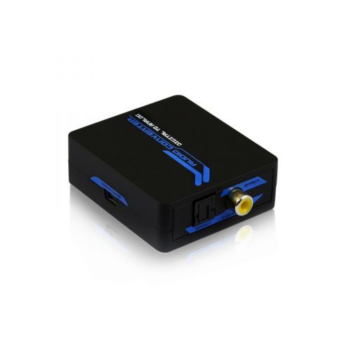 Převodník Elektronický převodník Digitální optický SPDIF/Coax převodník na stereo RCA CINCH konektory analog audio a 3,5mm jack, pro zapojení sluchátek, apod.