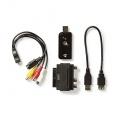 Převodník video USB - převod VHS analogu do digitální podoby, digitalizace kazet do PC, video-graber, kompatibilita Vista, Win7 a Win8, WIN10, redukce Scart / Cinch
