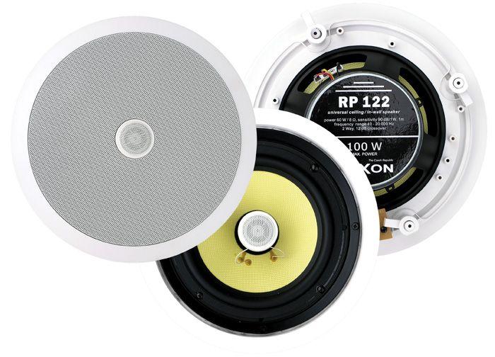 Reproduktor stropní RPT 122 100V, podhledový, k zabudování do stropních podhledů, plastový, hifi, 25 W / 100 V, 90 dB, 40 – 20 000 Hz, Ø 280 mm, vyhýbka, s transformátorem