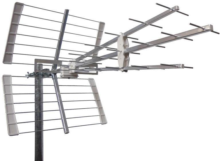 Anténa Emme Esse 45BS5G 5G LTE free DBV-T2 televizní směrová anténa pro příjem digitální TV, délka 996mm, prvky kruhového tvaru, rychlá a snadná montáž, precizní kvalitní a výkonná