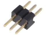 ASL003G-1.27mm 1-řadá přímá jumperová lišta 3 pin