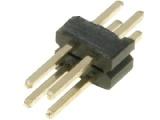 ASL004DG-1.27mm 2-řadá přímá jumperová lišta 4 pin