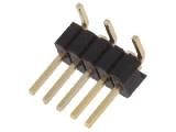 ASL005G-SMD-1.27mm 1-řadá přímá jumperová lišta 5 pin