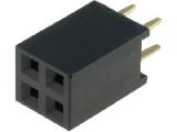 BL804DG 2-řadá zdířka jumperová lišta 4 pin