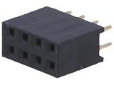 BL808DG 2-řadá zdířka jumperová lišta 8 pin