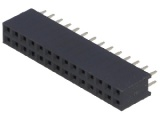 BL828DG 2-řadá zdířka jumperová lišta 28 pin