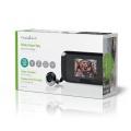 Dveřní digitální kukátko NEDIS DOORS10BK s kamerou a LCD monitorem, kamera se záznamem na microSD kartu a detekcí pohybu
